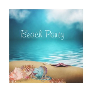 Fun Beach Party Invitations for Parties and Fundraisers