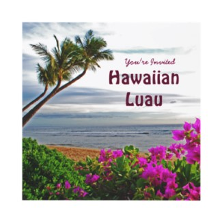 Hawaiin Luau Invitations