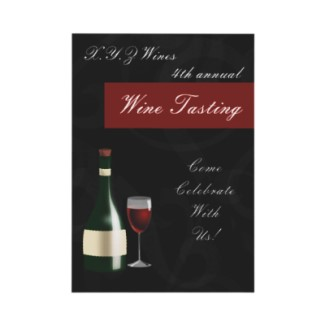 Wine Tasting Invitations for Parties and Fundraising Events