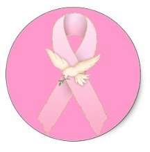 Breast Cancer Pink Ribbon Sticker