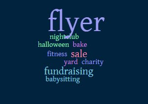 Fundraising Ideas  Flyer Examples