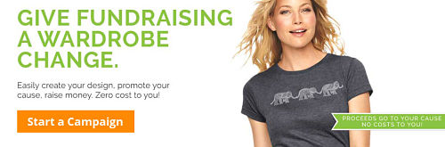 Fundraising t shirts boost donations with no upfront for T shirt fundraiser site